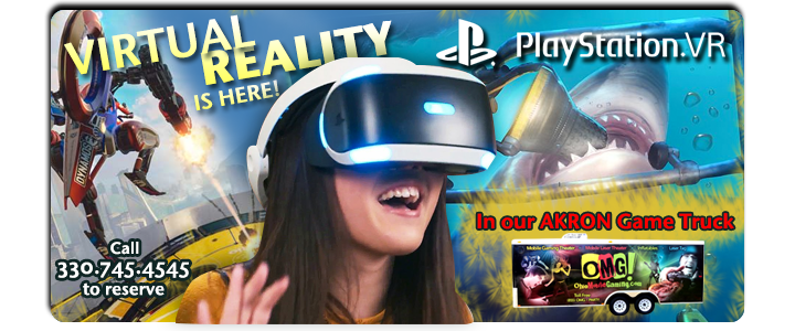 virtual reality video gaming party rentals, akron, canton ohio